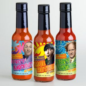 Three Stooges Hot Sauces