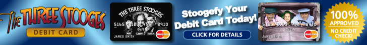 The Three Stooges Debit Card Ad