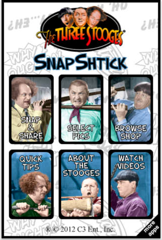The Three Stooges Snap Shtick App for iOs