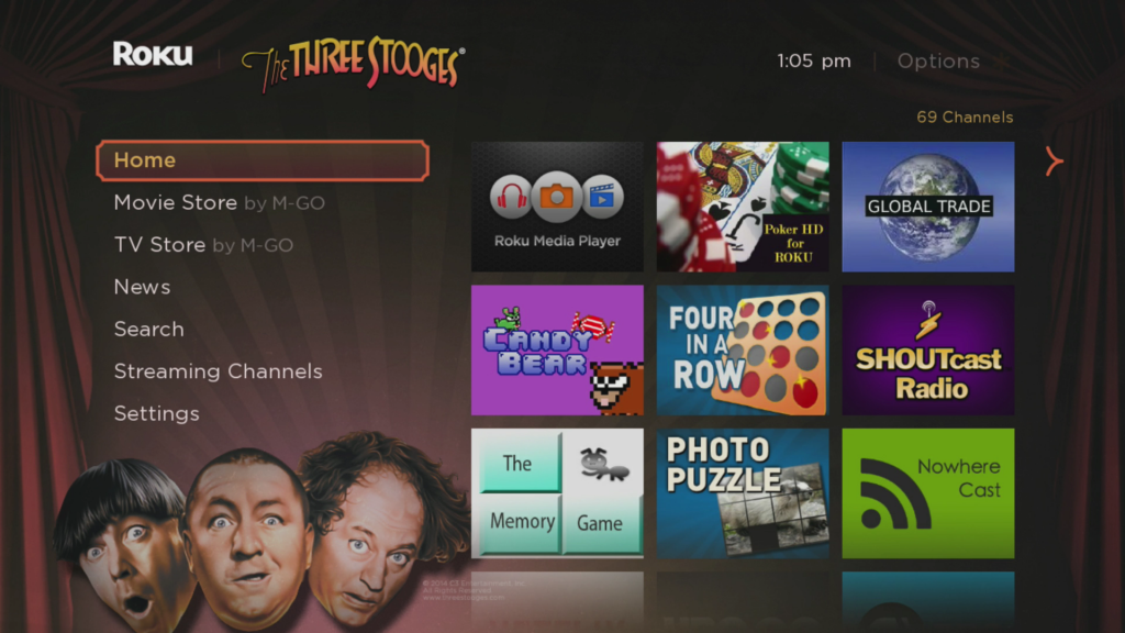 The Three Stooges Roku Theme