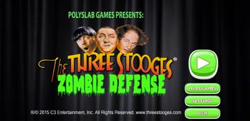 The Three Stooges Zombie Defense Splash Screen