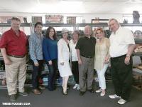 Celebrating Shemptember at the C3 Entertainment offices with Earl Benjamin, Pablo Valez, Ani Kachoian, Andrea DeLesDernier, Jill Howard, Eric Lamond, Geri Howard, and Bob Benjamin