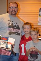 Raffle winning Father and sons Three Stooges Fans