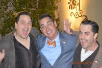 Center: Brad Server (Curly's grandson) with comedians Schwartzy and Pagana