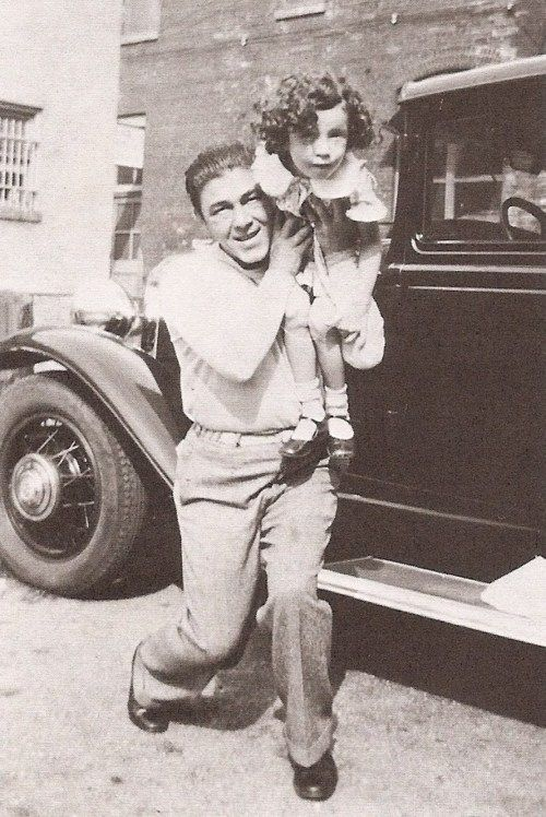 Moe Howard and daughter, Joan Howard Mauer