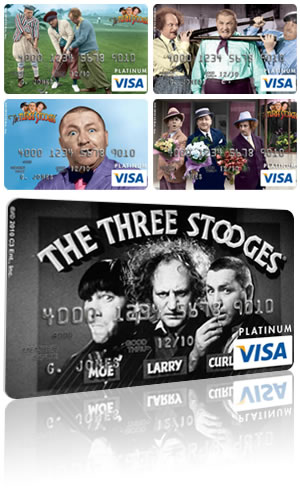 The Three Stooges Visa Card