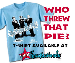 Three Stooges pie fight t shirt