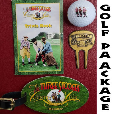 The Three Stooges Three Little Beers golf balls