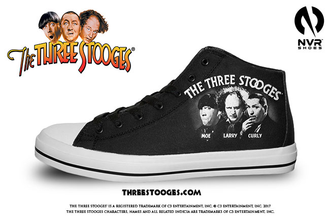 The Three Stooges Sneakers classic logo