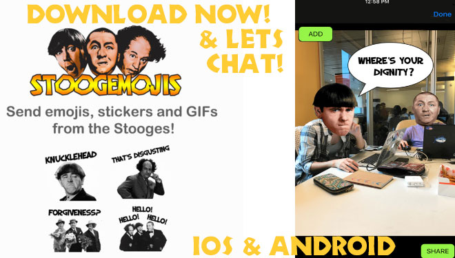 The Three Stooges emojis ios android