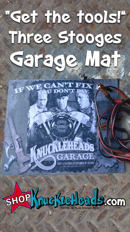 The Three Stooges Garage Mat