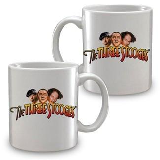 The Three Stooges color logo mug