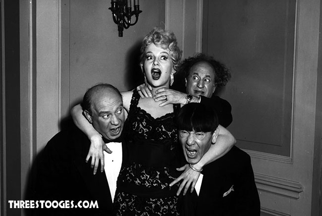 The Three Stooges with Greta Thyssen in Pies and Guys
