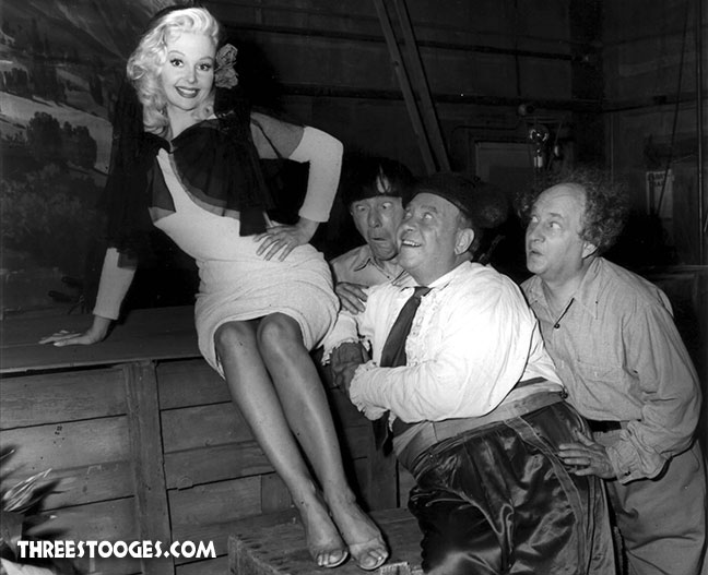 The Three Stooges with Greta Thyssen in Sappy Bullfighters