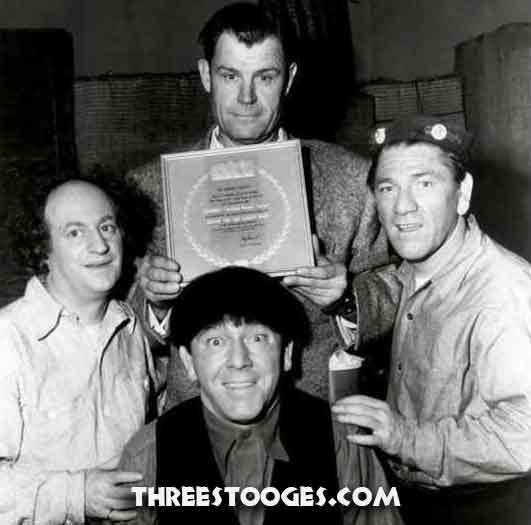 Edward Bernds with The Three Stooges