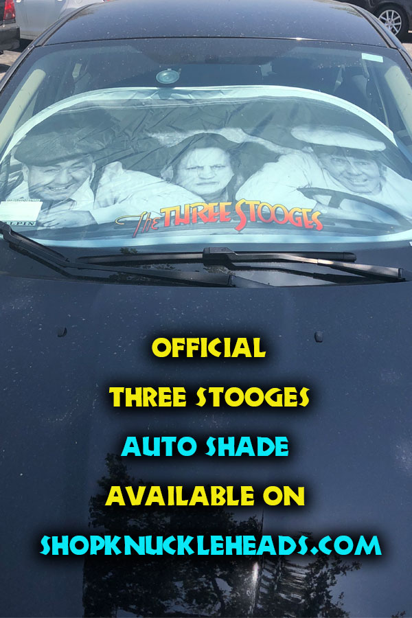 The Three Stooges Auto Sun Shade Shopknuckleheads