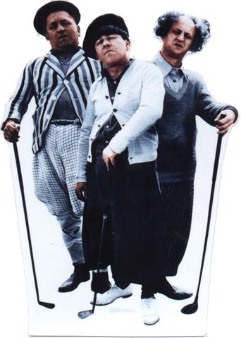 4 foot Three Little Beers Standee Three Stooges
