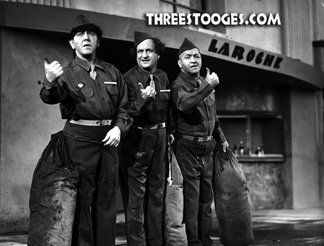 The Three Stooges in GI Wanna Go Home