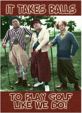 Three Stooges golf magnet